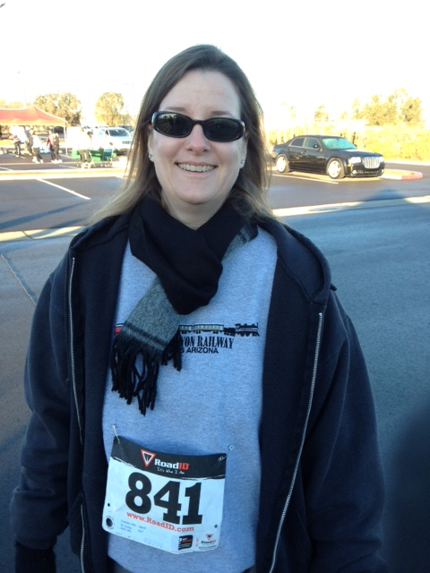 It's cold, but I am ready for my first 5K of 2013.  Loving the feeling of fulfilling a goal!
